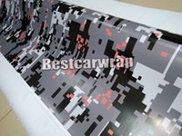 Orange blanc noir Digital Camo VINYL Full Car Wrap Camouflage Covering Pour camion biberon brillant / finition matée 1.52 x 30m / 5x98ft