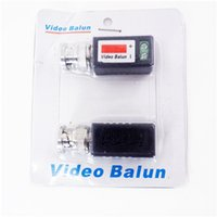 Wholesale Balun Transceiver - 202N 1CH passive video balun VIDEO BALUN FOR CAMERA DVR professional nice balun video transceiver[ Black][ Grey ] AT