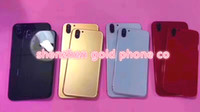 Wholesale Middle Frame Iphone Silver - for iphone8 style Replacement Back Housing for iPhone 6 6s Metal Alloy Middle Frame Batery Rear Cover shiny jet Black gold red silver