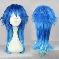 Wholesale dramatical murder cosplay costume - Anime Dramatical Murder DMMD Seragaki Aoba Cosplay Wig Two Tone Blue Ombre Synthetic Hair Women Costume Party Wigs