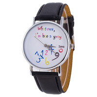 Wholesale Late Glass - New Style Whatever I'm late anyway Irregular Figure Women Wristwatch Fashion Men Watches Quartz Watch 100pcs lot For Christmas Gift Birthday