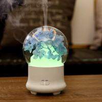 Wholesale pretty lamps - 100ml Pretty Flower Ultrasonic Aromatherapy Air Humidifier with LED Lamp for Home Essential Oil Mist Diffuser