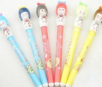 Wholesale 2016 new Children s stationery cute Cartoon Japanese dolls gel pen Korean Style Promotion Gift Fashion