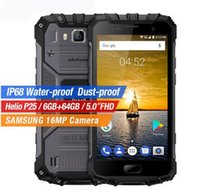 Wholesale Mtk6575 Tv - Uelfone Armor 2 Smartphone MTK6575 Octacore 6GBRAM 64GBROM Cellphone 5.0 inch 16MP Back Camera Android 7.0 1920x1080 Resolution Smartphone