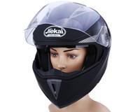 cascos de moto de cara completa xxl al por mayor-Nueva motocicleta casco de cara completa, doble visera, bicicleta de calle con protector transparente con material ABS con forro de esponja de presión caliente