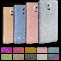 Wholesale Galaxy S4 Body - 2016 Full Body Glitter bling Screen Protector Sparkle shimmer Film Skin Shinny Sticker Protetors for Samsung Galaxy s4 s5 s6 s7 edge note 4