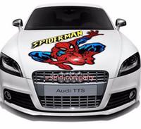 motorlu tezgahlar toptan satış-1 stand kamyon araba motor yarışı Araba spor güç otomatik örümcek-adam Çıkartması Vinil sticker Hood Çıkartmaları uçan