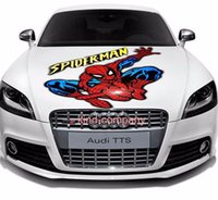 Wholesale vinyl stands - 1 stand truck vehical motor racing Car sport power auto spider-man Decal Vinyl sticker Hood Decals flying