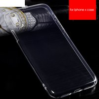 2018 Transparent Clear Soft Flexible Silicone TPU Case Crystal Rubber Back Cover pour iPhone X / 8/7 / 6s Samsung S8 Note8 Étui pour téléphone