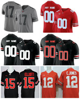 9d82ff361ae 2017 Gray Ohio State Buckeyes Jersey 6 Sam Hubbard 9 Johnny Utah 12 Denzel  Ward 17 Jerome Baker 18 Tate Martell College Stitched ...