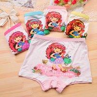 Wholesale Strawberry Boxers - 2016 10 Piece Lot New Children Girls Underwear Girls Underwear Modal Boxer New Strawberry Girls Children Baby Girls Kids Briefs Underwear
