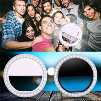 Bague Led Yongnuo Pas Cher-Luxe Mini Selfie Flash Light Portable Led Round Ring Flash pour iPhone, Samsung, Blackberry, Sony, Motorola Iphone Selfie Ring Light F754