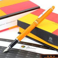 ingrosso penne stilografiche picasso-1pc / lotto Picasso Angus Starling Orange Penne Clip Argento Picasso 608 Penna Stilografica Pimio Office Suplies Cancelleria 13.6 * 1.3cm