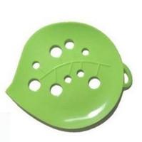 feuilletons pour hôtels achat en gros de-150 Pcs salle de bains savon boîte feuille de savon vert plat plateau cas boîte douche toilette hôtel boîte de savon vert