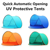 ingrosso tende feste-Summer Hiking Tents Outdoor Camping Shelters for 2-3 People Protezione UV 30+ Tenda per Beach Travel Lawn Family Party