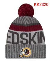 Wholesale Redskins Cap - wholesale price Redskins knitted Hats cap Adult Pom Winter beanies Acceap Mix Order