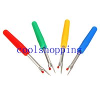 Wholesale Seam Rippers Wholesale - Steel Plastic Handle Craft Thread Cutter Seam Ripper Stitch Unpicker for China Craft Tools