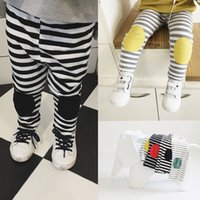 Wholesale Tight Panties Child - 2017 new children stripe patch boy Leggings girl Pants and panties in spring boy and girl kids pants