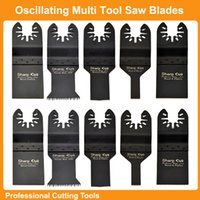 Wholesale Oscillating Tools - Free Shipping:Mixed 10pcs box wood & metal cutting Oscillating Multi Tools Saw Blades Accessories fit for Multimaster tools Plunge saw blade
