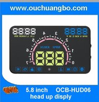 Wholesale Ouchuangbo inch car HUD head up display with OBD2 multi clour duzl chip over speed alarm warining icon Fuel Consumption