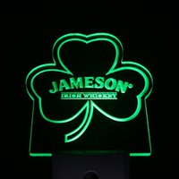 Wholesale Shamrock Light Sign - Wholesale- ws0235 Jameson Shamrock Day  Night Sensor Led Night Light Sign