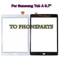 t555 samsung toptan satış-Samsung Galaxy Tab Için 9.7 Inç Dokunmatik Ekran Ile Bir 9.7 SM-T550 T550 T551 T555 Sayısallaştırıcı Cam Lens Paneli