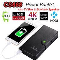 Wholesale Multi Media Mini Speaker - Multi-function Android 6.0 TV Box Amlogic S905X Quad Core 1G 8G CS668 4K Mini PC Bluetooth Speaker Power Bank Smart Media Player Google Play