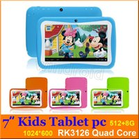 Wholesale Tablet Android Mid Mini - Christmas gift for kids 7 inch Kids Education Tablets RK3126 Quad core Android 5.1 512MB 8GB 1024*600 Kids Games & Apps mini tablet pc MID