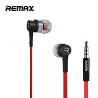 Écouteur en métal de haute qualité Remax RM-535 Écouteur avec amplificateur de bruit HiFi Bass Wired Control Music avec micro casque d'ordinateur pour iPhone Samsung