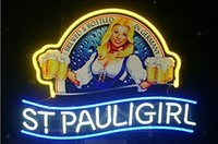 "Wholesale Girls Neon - Brand New St. Pauli Girl Real Glass Neon Sign Beer light 17""X14"""