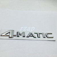 Wholesale R Stickers - For Mercedes 4Matic Letter Logo Rear Trunk Emblem Sticker For Benz W124 W210 C E CL CLS R Car Styling Badge Decal