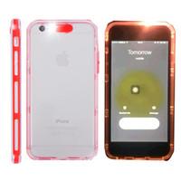 Wholesale Led Flash Phone Cases - For iphone 6 6s plus Case Hybrid Incoming Calls LED Call Flash Light Case Transparent Clear TPU PC Flishlight LED Phone Back Cover