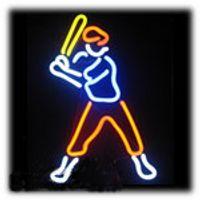 ingrosso segno luci al neon di baseball-Caldo giocatore di baseball Neon Sign Light Sport Gioco Real Tube Tube Glass Pubblicità Display Neon Signs Light 13