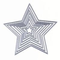 Wholesale Big Dies - 8pcs Cutting Dies Basic Stars Sizzix Big Shot Carbon Steel Metal Cutting Dies Scrapbooking Dies Decorative Paper Cards Template