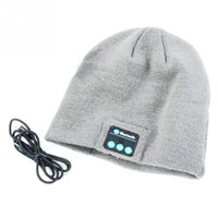 Wholesale Free Christmas Mp3 - Knitted Winter Soft Warm Hat with Bluetooth V3.0+EDR headset Hands-free Music Mp3 Speaker Mic Cap Hats For Smart Phone