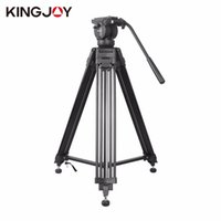 Wholesale tripod kit - KINGJOY VT-2500 Professional Photography Equipment Heavy Duty DV Video Camera SLR Camera Tripod with Fluid Pan Head Kit