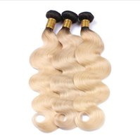 8A Cheap Ombre Malaysian Hair Weaves # 1B / 613 Blonde bundles Dark Roots Ombre Body Wave Cabelo Humano Two Tone Virgin Hair