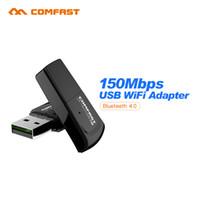 Wholesale wireless n adapter desktop - Wholesale- Comfast Mini 150M USB WiFi Adapter 802.11 b g n Blueteeth 4.0 Wi-Fi Dongle PC wifi Lan Network Card Signal Reciver CF-WU725B