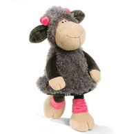 Wholesale lamb toys online - Candice Guo Super Cute Nici Plush Toy Stuffed Jolly Mah Lucy Sheep Gray Skirt Lamb Girl Birthday Gift Cm Pc