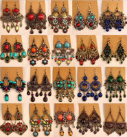 Wholesale Emerald Green Dangle Earrings - Unique national style earring,various shapes, Bohemian China Miao, vintage style earring, free shipping and hign quality