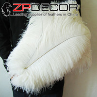 Wholesale Wedding Tables China - China Trading Manufacturer ZPDECOR Factory 45-50cm(18inch-20inch) Pretty Bleached White Ostrich Feather for wedding table decoration
