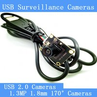 Wholesale Cmos Camera Lens Module - 1.3MP Surveillance cameras 720P HD 1.8mm lens 170-degree wide viewing angle USB2.0 camera module