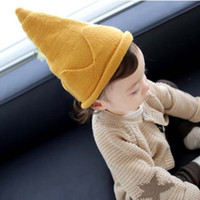 Baby-Häkelarbeit-Hut-koreanischen Jungen Mädchen Crown Wool Cap Kinder Hüte 2016 Herbst-Winter-Kind-Kappen Strickmütze Kinder Cap Lovekiss C28069
