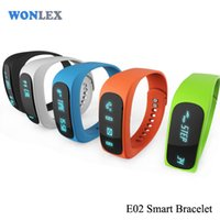 Wonlex E02 Smart Wristband Pulseira esportiva para IOS android Fitness Sleep Long Time Standby Pedometer Band