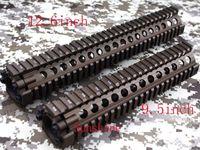 Wholesale Handguard For Aeg - Split type 9.5&12.6 inch Picatinny rail aluminum handguard rail system for AEG M4 M16