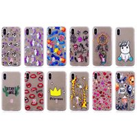 Barato Caso Do Iphone Da Princesa Do Silicone-Moda Lips Princess Soft TPU Case para Iphone X 8 7 Plus 6 6S SE 5S Skull Unicorn Dreamcatcher Silicone Heart Love Cartoon Eyes Gel Cover