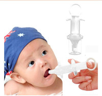 Wholesale Nipple Squeezing - High Quality Baby Squeeze Medicine Dropper Dispenser Baby Pacifier Needle Feeder Feeding Flatware Utensils Infant Nipple Syringe