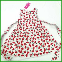 Wholesale Kids Animal Overalls - cherry red love heart girls dresses fashion bright style children kids vestidos overalls outfit new arrival hot selling free shipping