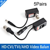 Wholesale Cat5 Camera Power Balun - 5Pairs Video Balun Transceiver BNC UTP RJ45 Video Balun and Power Over CAT5 5E 6 Cable for CVI TVI AHD 720P Camera 300m