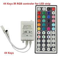 control remoto 44keys ir al por mayor-10 UNIDS 12 V 6A 44 Teclas IR Control Remoto RGB Dimmer Para SMD 3528 5050 RGB LED Strip Lights Envío Gratis